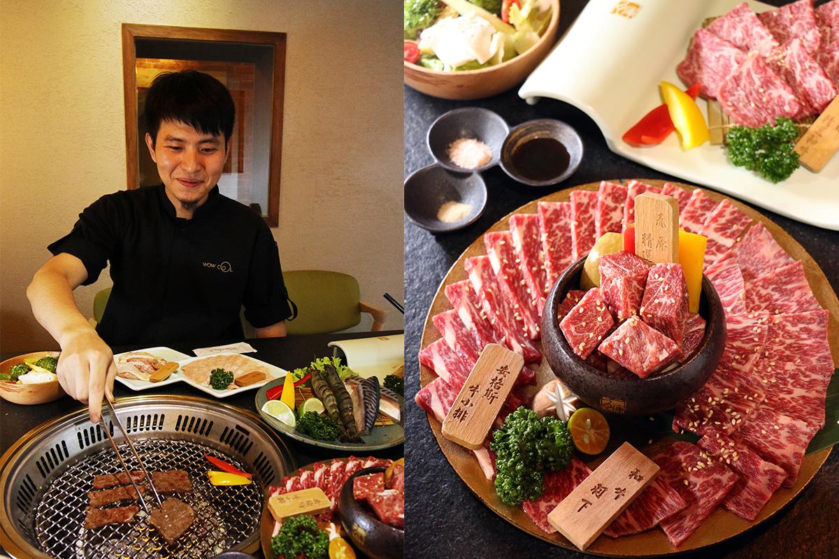 03_老闆陳冠儒賦予老屋新生命,並結合受歡迎的日式燒肉,邀請年輕人走入時光隧道品嚐美食。(瓦庫燒肉)
