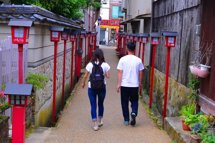 10鳥取中部大城倉吉,保存了白壁建築。